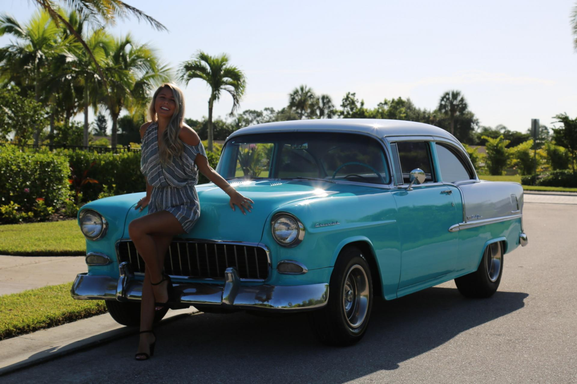 Used 1955 Chevrolet Bel Air for sale Sold at Muscle Cars for Sale Inc. in Fort Myers FL 33912 3