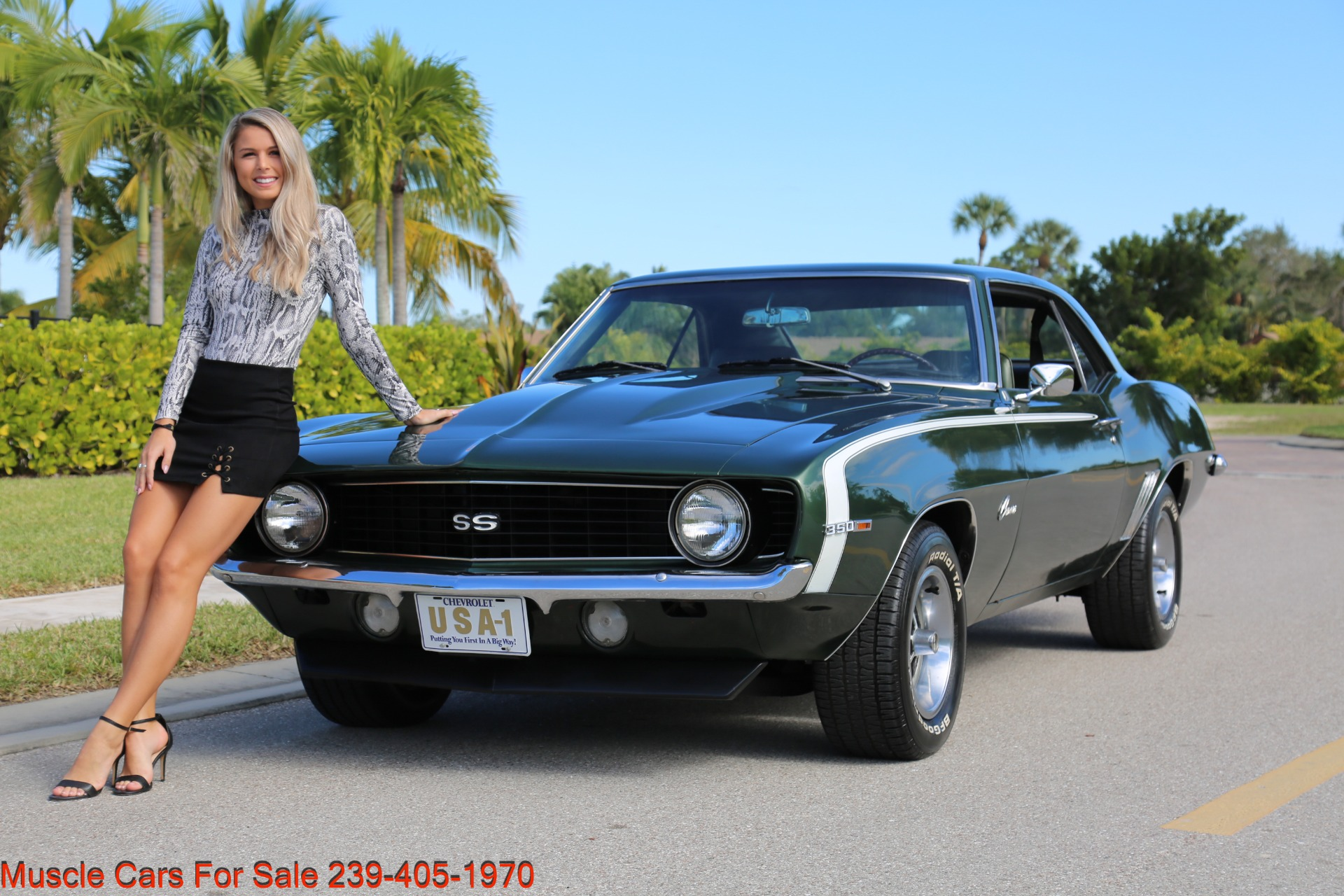 Used 1969 Chevrolet Camaro SS for sale Sold at Muscle Cars for Sale Inc. in Fort Myers FL 33912 1