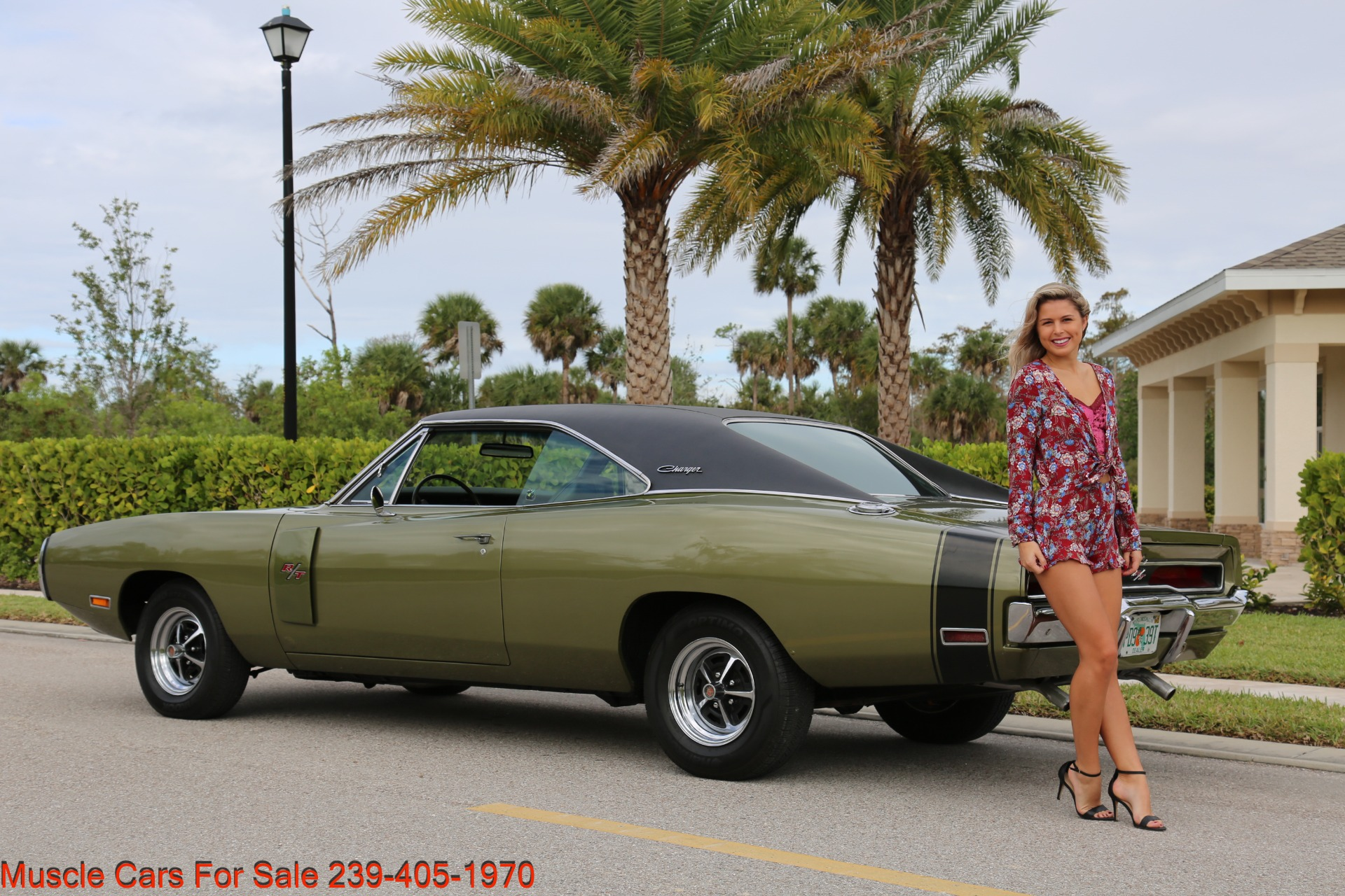 Used 1970 Dodge Charger V8 Auto With AC for sale Sold at Muscle Cars for Sale Inc. in Fort Myers FL 33912 4