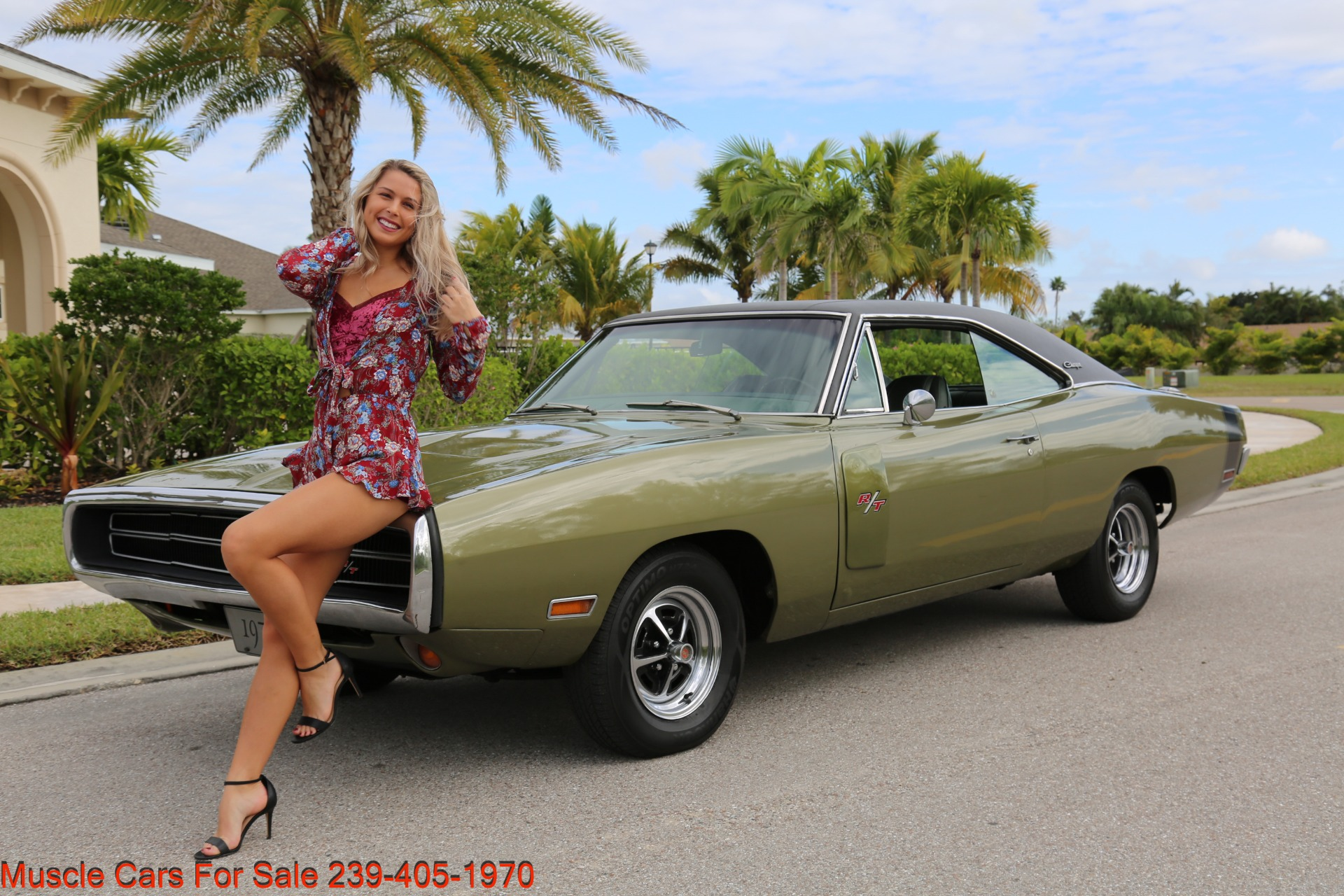 Used 1970 Dodge Charger V8 Auto With AC for sale Sold at Muscle Cars for Sale Inc. in Fort Myers FL 33912 1