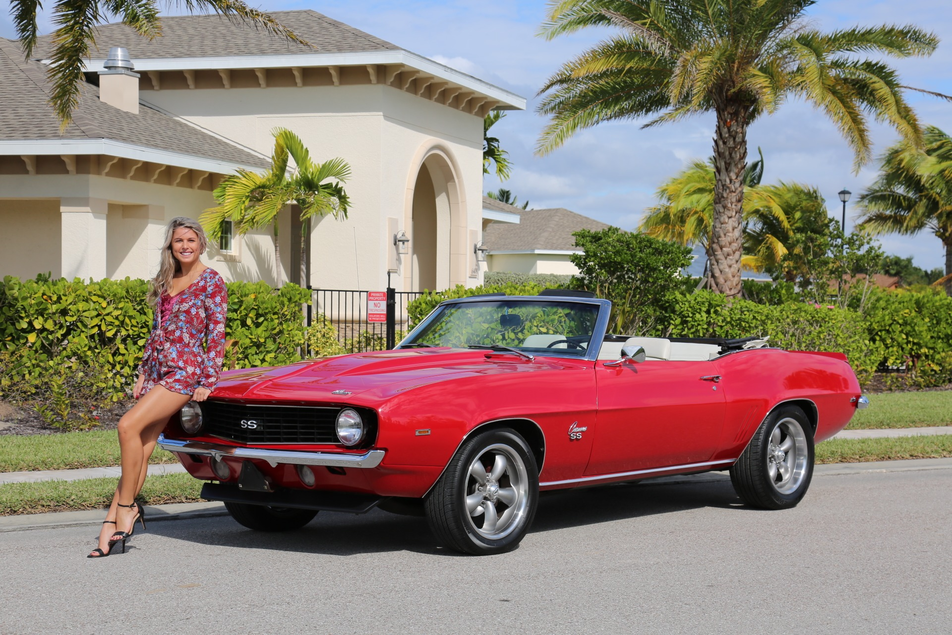 Used 1969 Chevy Camaro Convertible V8 Auto 12 Bolt Rear for sale Sold at Muscle Cars for Sale Inc. in Fort Myers FL 33912 1