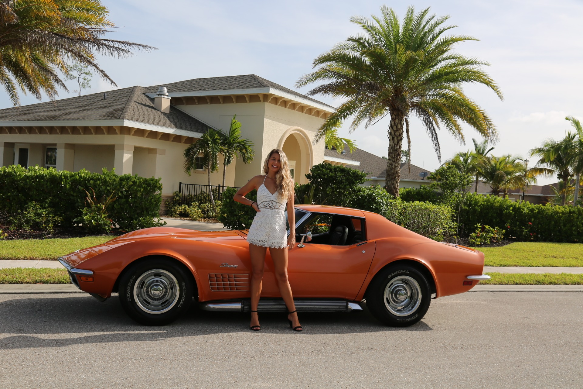 Used 1971 Chevy Corvette Removable rear Glass and T Top 4 speed for sale Sold at Muscle Cars for Sale Inc. in Fort Myers FL 33912 2