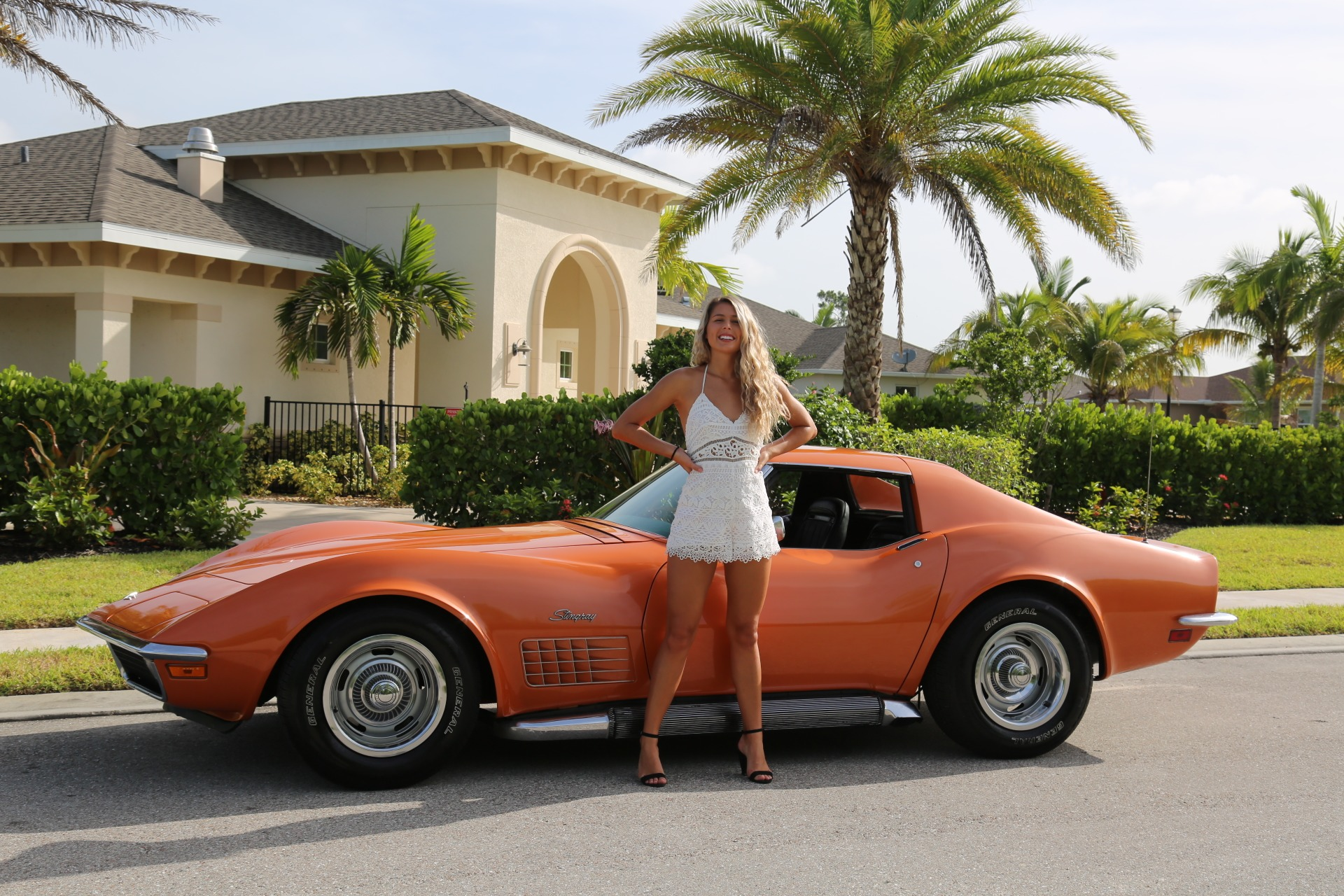 Used 1971 Chevy Corvette Removable rear Glass and T Top 4 speed for sale Sold at Muscle Cars for Sale Inc. in Fort Myers FL 33912 1