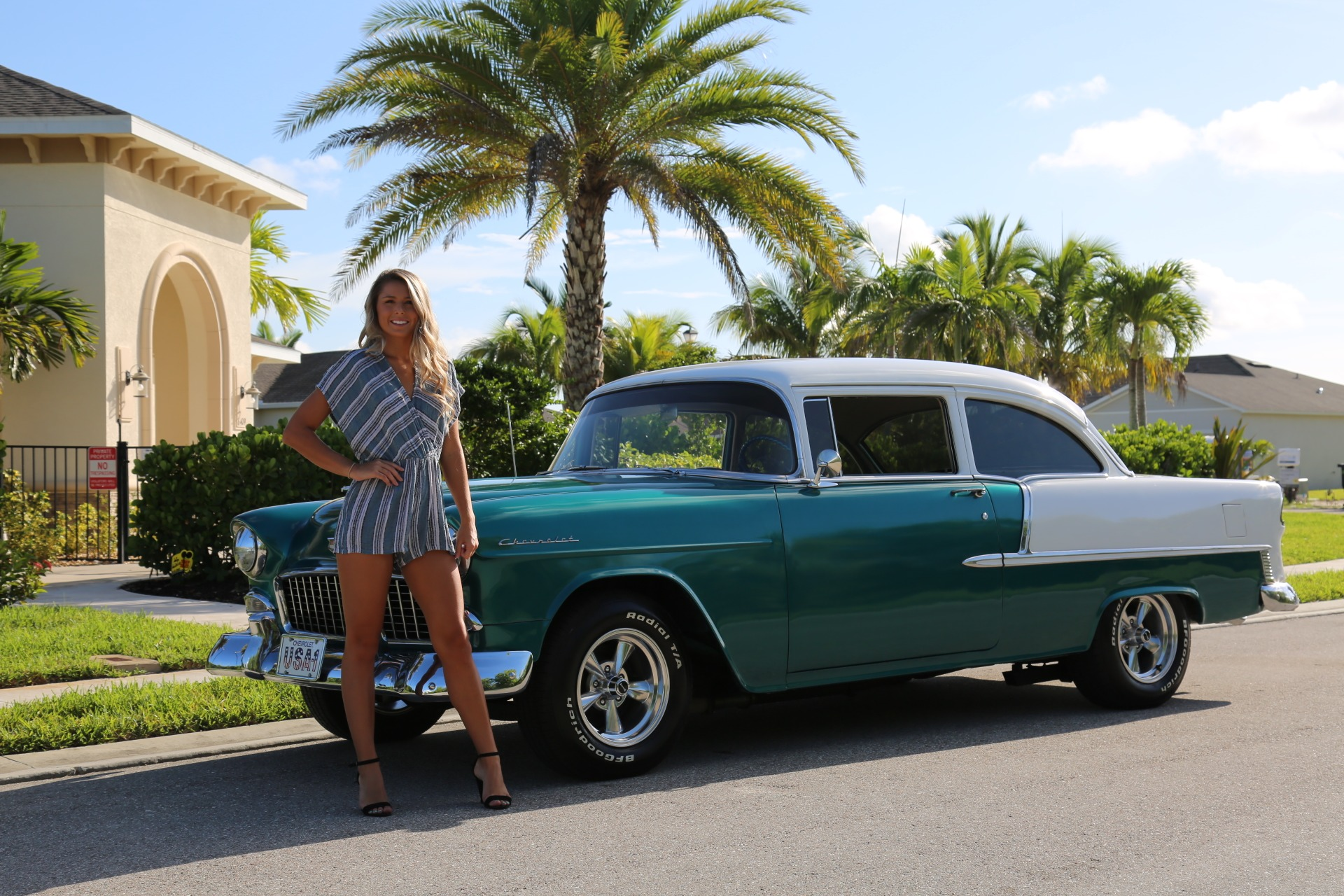 Used 1955 Chevy Bel Air BelAir for sale Sold at Muscle Cars for Sale Inc. in Fort Myers FL 33912 2