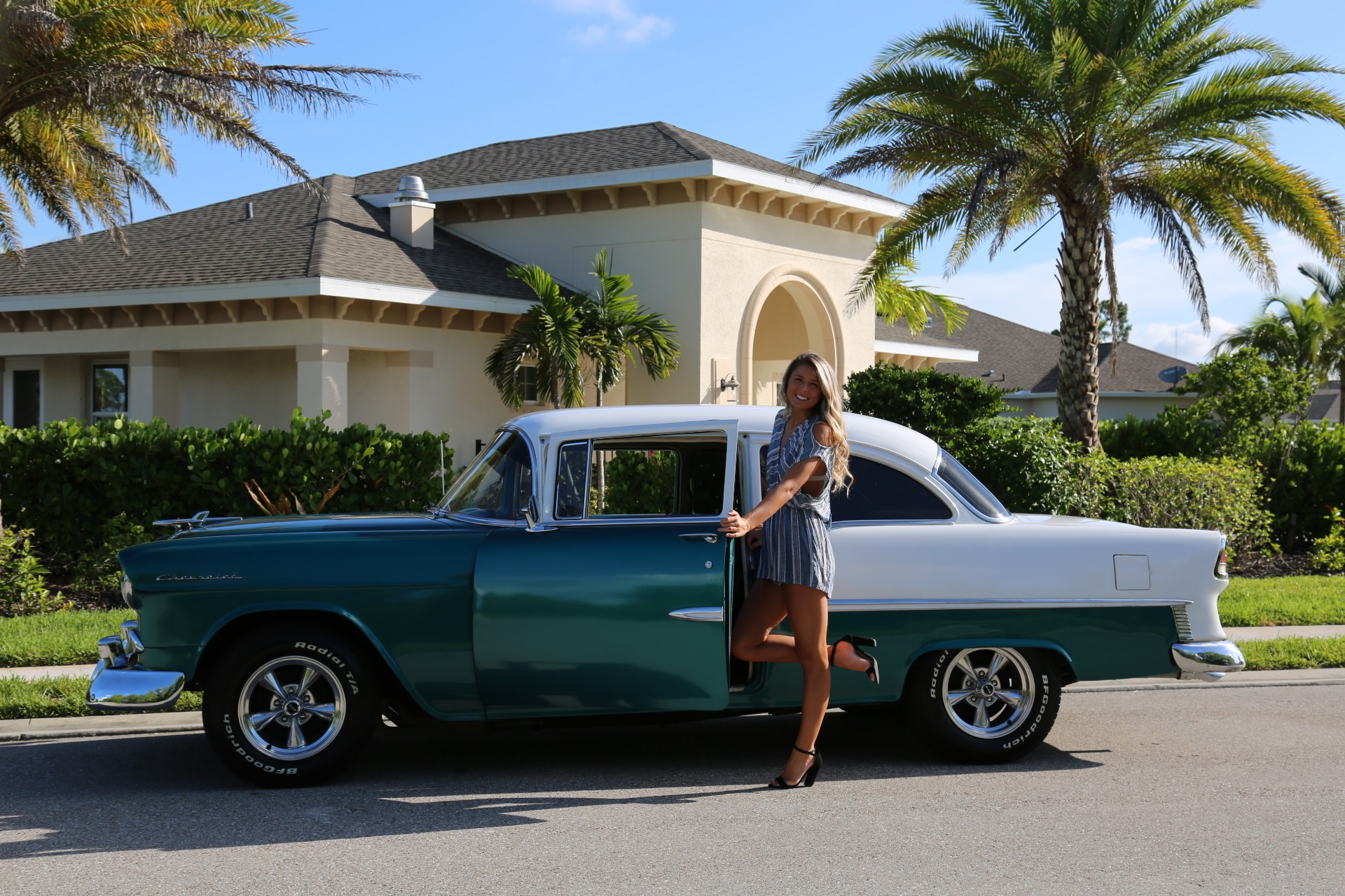Used 1955 Chevy Bel Air BelAir for sale Sold at Muscle Cars for Sale Inc. in Fort Myers FL 33912 3