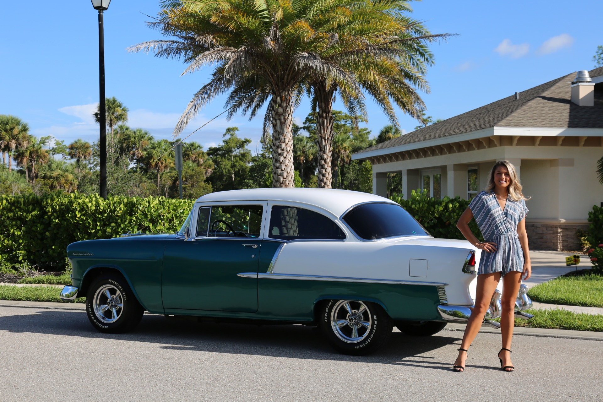 Used 1955 Chevy Bel Air BelAir for sale Sold at Muscle Cars for Sale Inc. in Fort Myers FL 33912 4