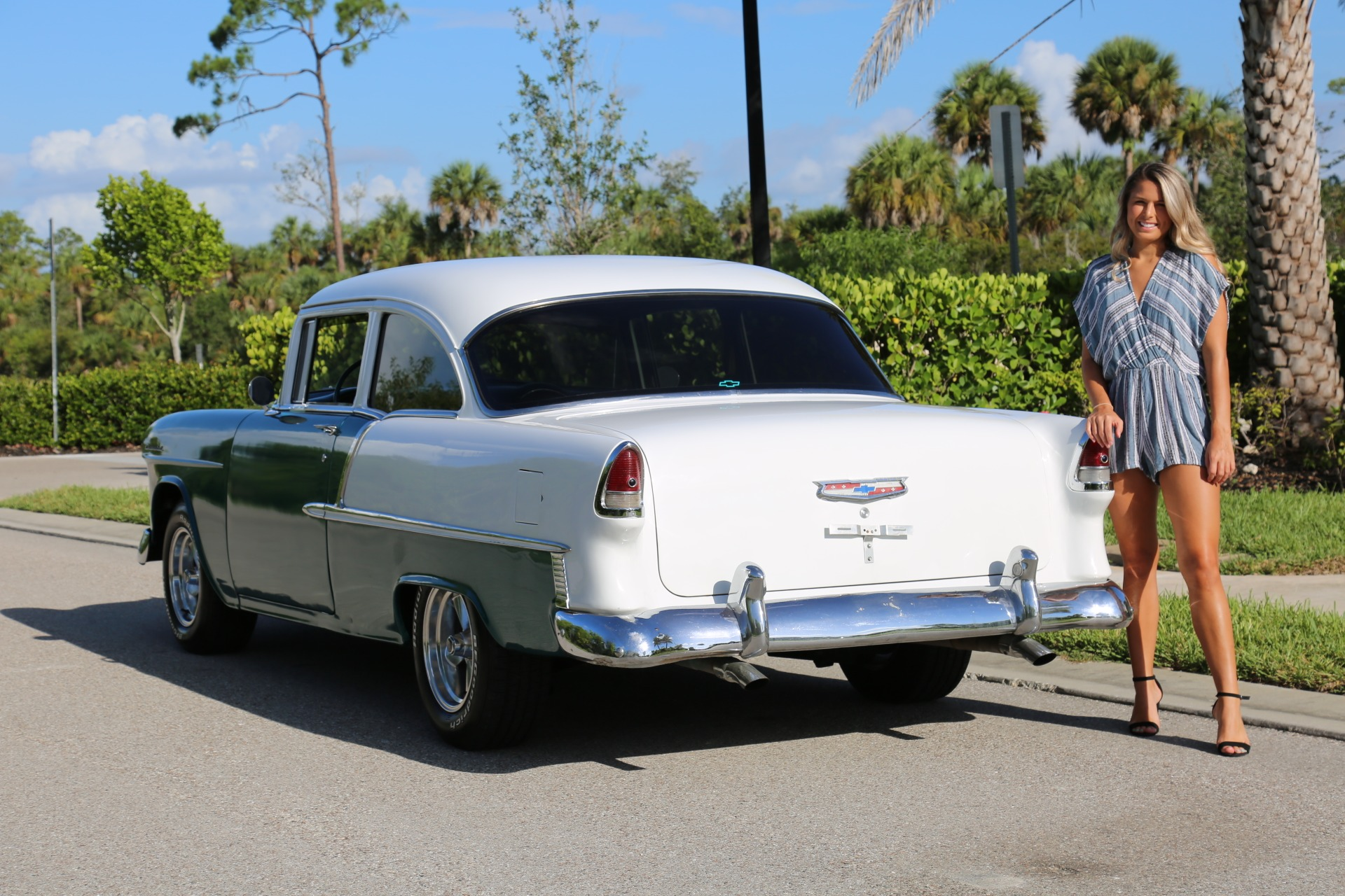 Used 1955 Chevy Bel Air BelAir for sale Sold at Muscle Cars for Sale Inc. in Fort Myers FL 33912 5