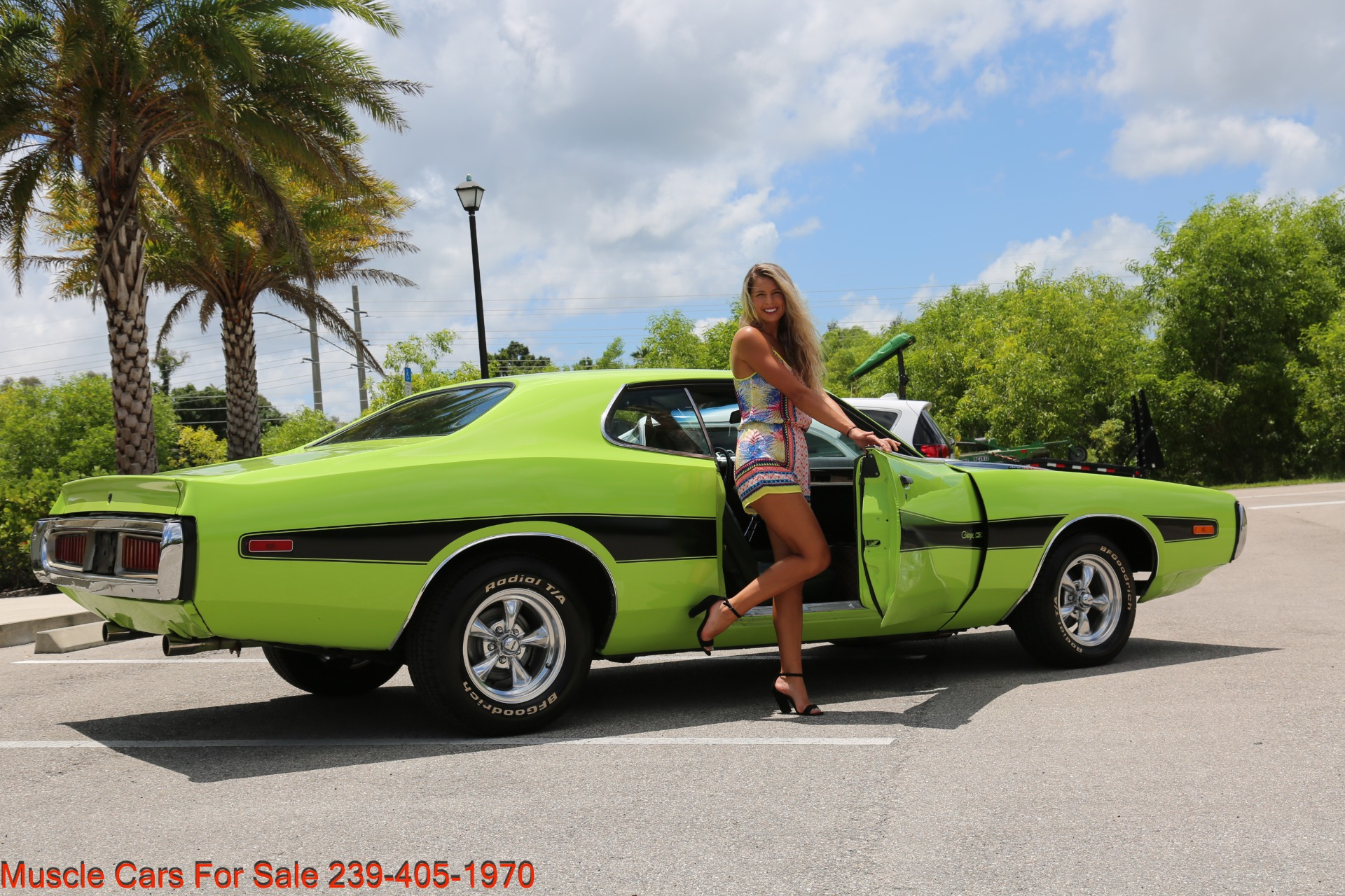 Used 1973 Dodge Charger 340 Auto Bucket Seats for sale Sold at Muscle Cars for Sale Inc. in Fort Myers FL 33912 4