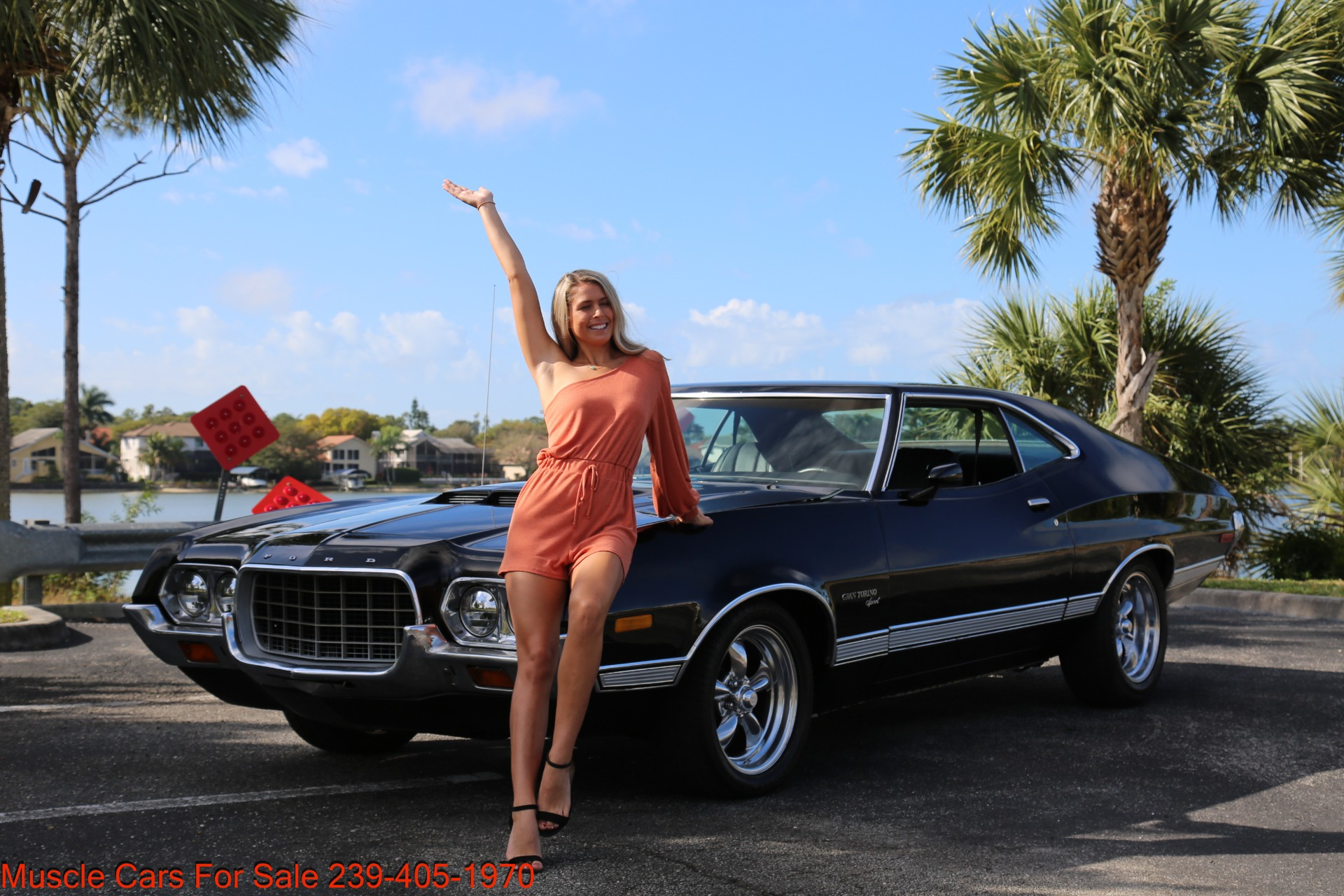 Used 1972 Ford Grand Torino Sport Sport 351 Cleveland Automatic A/C for sale $24,900 at Muscle Cars for Sale Inc. in Fort Myers FL 33912 4