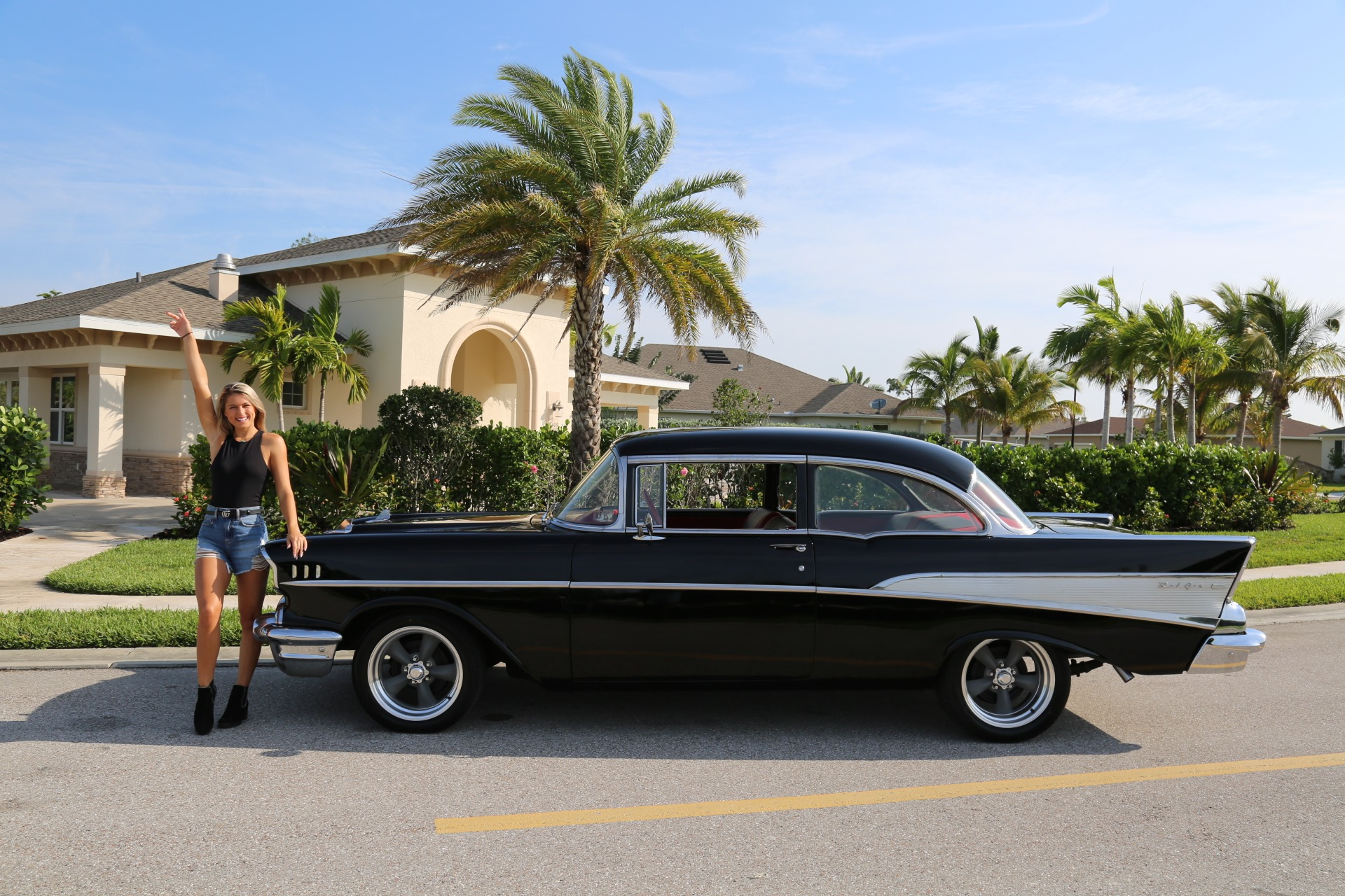 Used 1957 Chevy Bel Air Belair for sale Sold at Muscle Cars for Sale Inc. in Fort Myers FL 33912 3