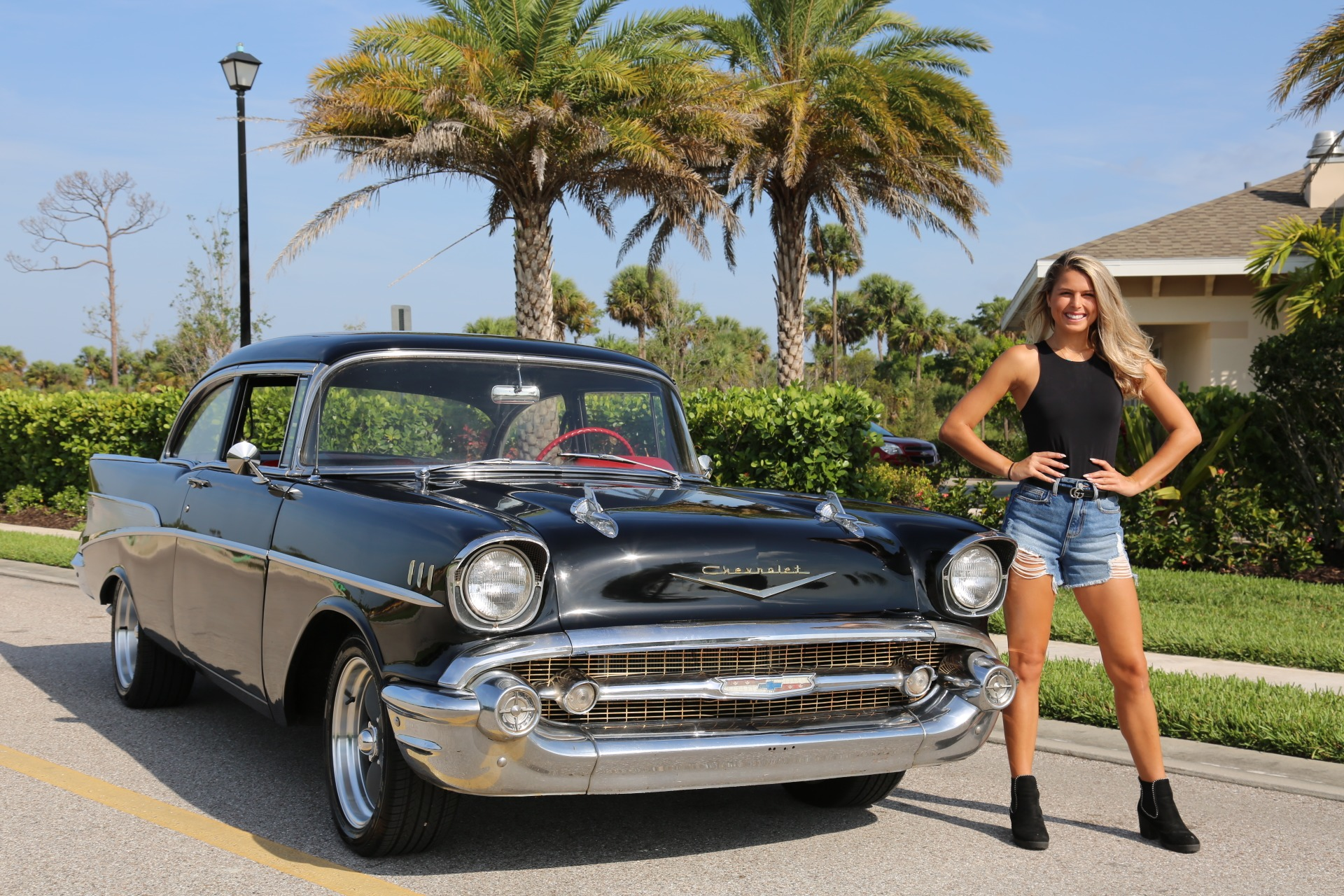 Used 1957 Chevy Bel Air Belair for sale Sold at Muscle Cars for Sale Inc. in Fort Myers FL 33912 5