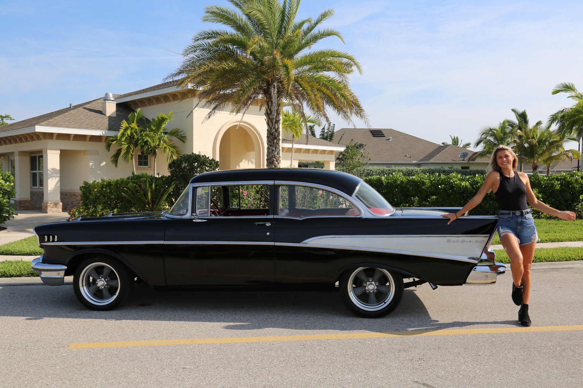 Used 1957 Chevy Bel Air Belair for sale Sold at Muscle Cars for Sale Inc. in Fort Myers FL 33912 1