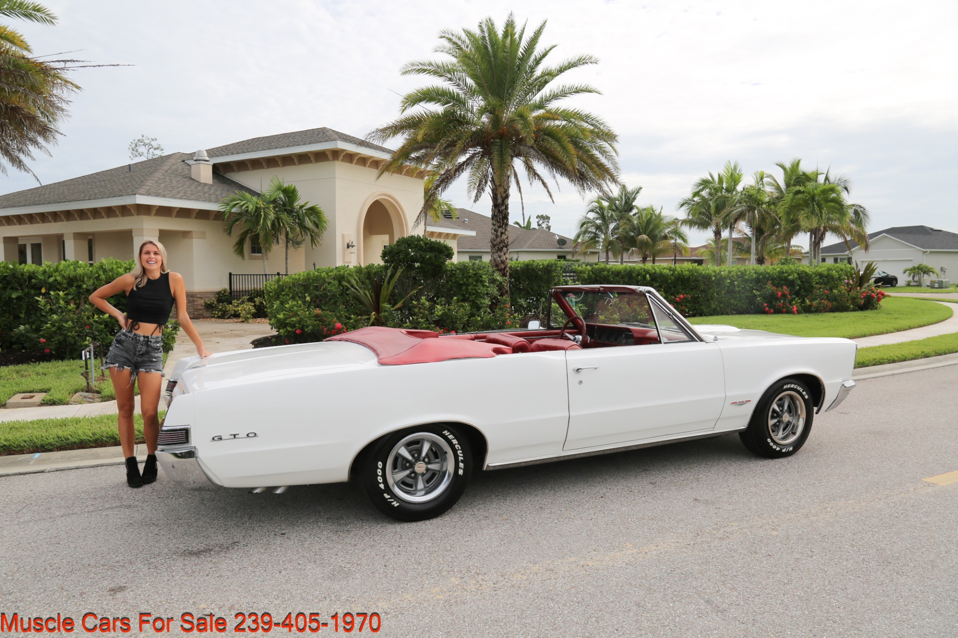 Used 1965 Pontiac Lemans GTO Convertible Convertible for sale $34,500 at Muscle Cars for Sale Inc. in Fort Myers FL 33912 3