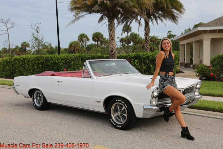 Used 1965 Pontiac Lemans GTO Convertible Convertible for sale $34,500 at Muscle Cars for Sale Inc. in Fort Myers FL