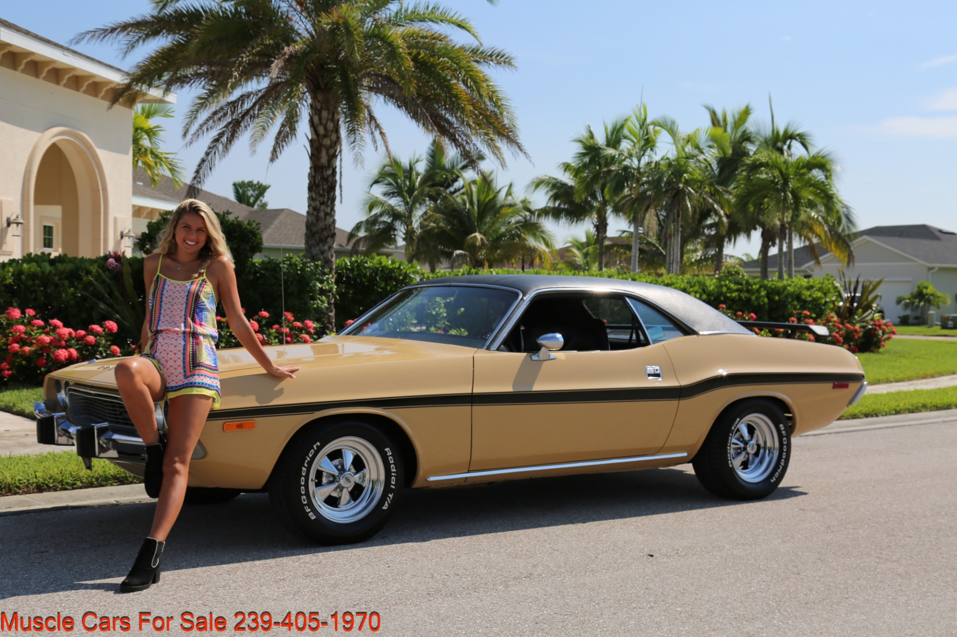 Used 1974 Dodge Challenger V8  Auto for sale $34,000 at Muscle Cars for Sale Inc. in Fort Myers FL 33912 1