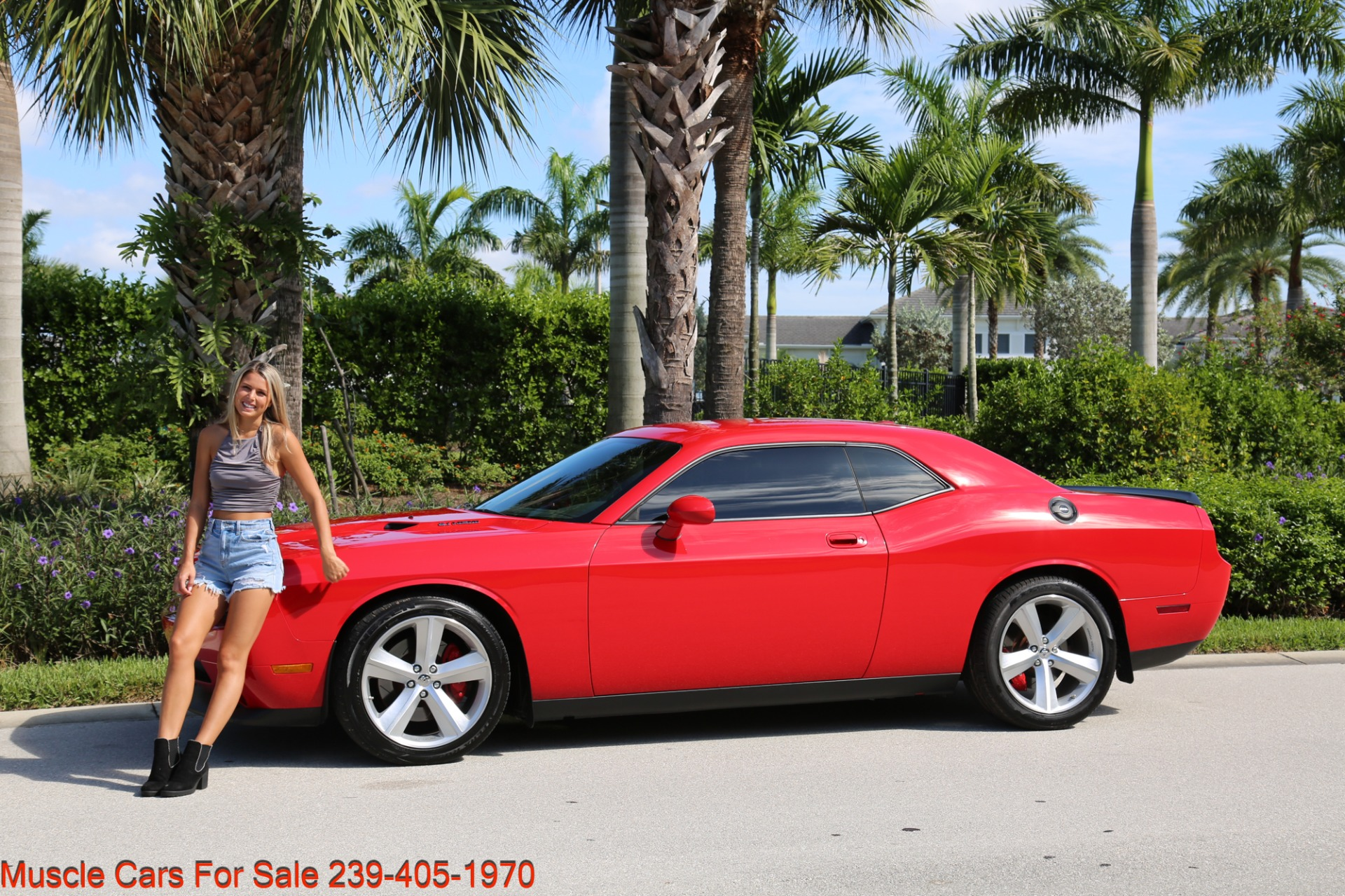 Used 2009 Dodge Challenger SRT8 SRT 8 for sale Sold at Muscle Cars for Sale Inc. in Fort Myers FL 33912 3