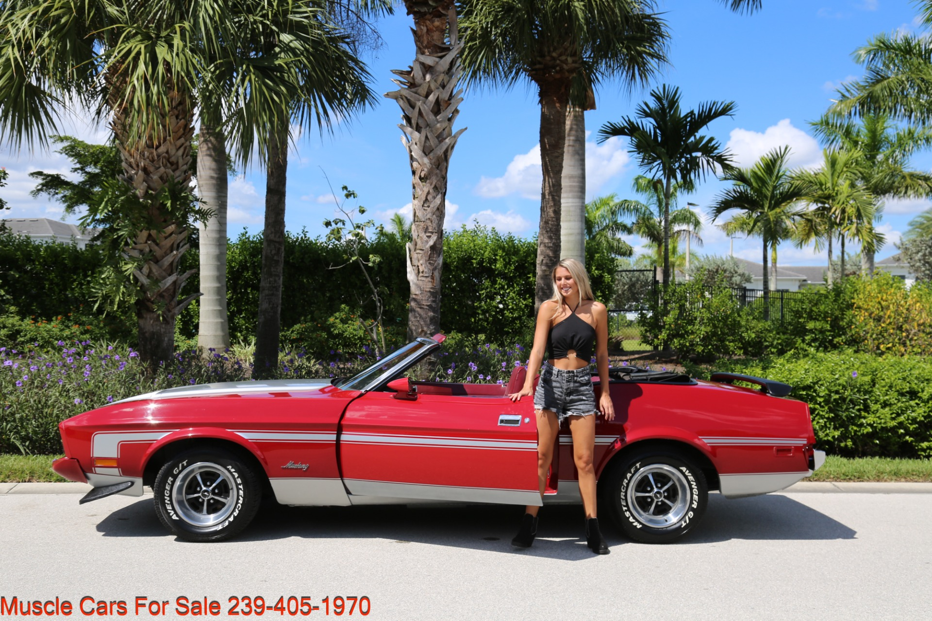 Used 1973 Ford Mustang Convertible for sale Sold at Muscle Cars for Sale Inc. in Fort Myers FL 33912 4
